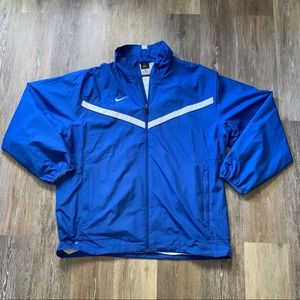 Nike Dri-Fit Full Zip Blue Windbreaker Men's Sz XL